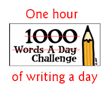 One hour of writing a day
