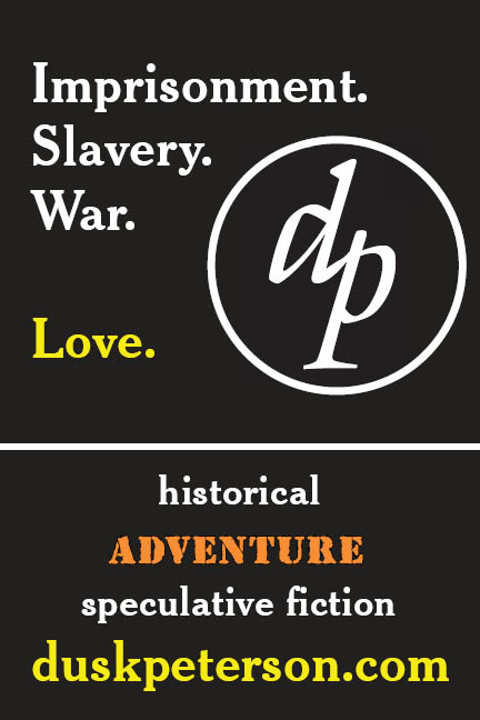 Imprisonment. Slavery. War. Love. Historical adventure speculative fiction & suspenseful lgbtq novels: duskpeterson.com
