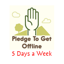 Pledge to get offline 5 days a week